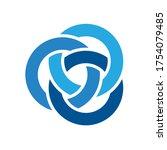 Blue Circle Three Interlock...