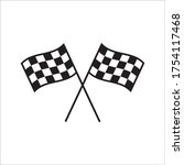 race flag icon. competition... | Shutterstock .eps vector #1754117468