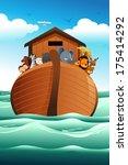 A Vector Illustration Of Noahs...