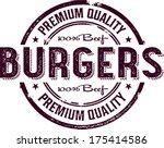 Vintage Burger Restaurant Menu Sign - stock vector