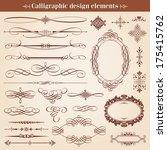 vintage calligraphic design... | Shutterstock .eps vector #175415762
