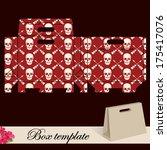 gift box template.print. cut... | Shutterstock .eps vector #175417076