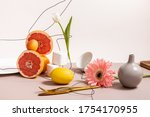 Floral And Fruit Composition...