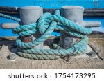Mooring Post With Rope On A...