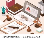Lawyer Office Workplace With...