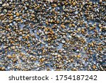 Pebble Stone Wall Texture Of...