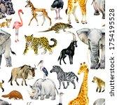 African Animals Seamless...