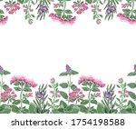 vector floral seamless border... | Shutterstock .eps vector #1754198588