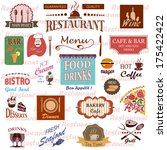 set of food and drink labels... | Shutterstock .eps vector #175422422