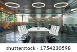 office interior with rest area. ... | Shutterstock . vector #1754230598