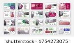 geometric presentation element... | Shutterstock .eps vector #1754273075