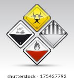 isolated danger sign collection ... | Shutterstock . vector #175427792