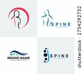 set of spine logo icon vector... | Shutterstock .eps vector #1754292752