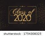 class of 2020 graduate gold...   Shutterstock .eps vector #1754308325