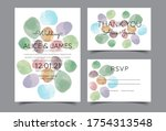 wedding invitation cards with... | Shutterstock .eps vector #1754313548