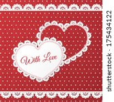 red paper hearts valentines day ... | Shutterstock .eps vector #175434122