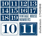 set of house numbers. two digit ... | Shutterstock .eps vector #175434848