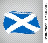 flag scotland from brush...