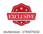 exclusive stamp  exclusive... | Shutterstock .eps vector #1754374232