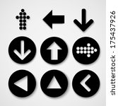 arrow sign icon set. simple... | Shutterstock .eps vector #175437926