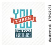 vintage thank you card | Shutterstock .eps vector #175439075