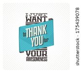 vintage thank you card | Shutterstock .eps vector #175439078