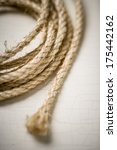 coiled rope  lasso  twine  | Shutterstock . vector #175442162