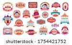 circus retro labels. vector... | Shutterstock .eps vector #1754421752