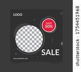 sale social media post design...   Shutterstock .eps vector #1754451968