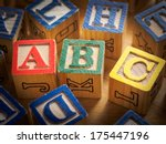 Small photo of ABC's in blocks