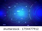 digital screen background  blue ...   Shutterstock .eps vector #1754477912