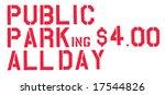 public parking four dollars all ... | Shutterstock . vector #17544826