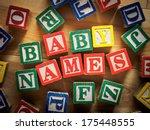 baby names concept | Shutterstock . vector #175448555