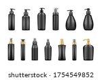 set of black luxury pump bottle ... | Shutterstock .eps vector #1754549852