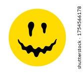 melting smile. dripping smile.... | Shutterstock .eps vector #1754566178