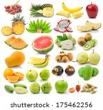 fruit  isolated on white... | Shutterstock . vector #175462256