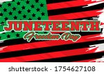 juneteenth freedom day. african ... | Shutterstock .eps vector #1754627108