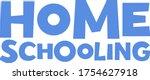 home schooling hand drawn...   Shutterstock .eps vector #1754627918