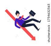 man in a suit rolls down....   Shutterstock .eps vector #1754632565