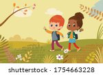 illustration of the boy and... | Shutterstock . vector #1754663228