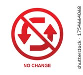 no change sign isolated on... | Shutterstock .eps vector #1754664068
