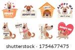 cartoon adopt dog. help... | Shutterstock .eps vector #1754677475