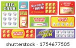 scratch cards. lottery games... | Shutterstock .eps vector #1754677505