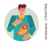 heartburn. gastric disease ... | Shutterstock .eps vector #1754677832