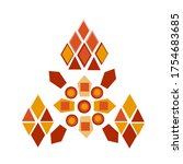 mandala design in color of red... | Shutterstock . vector #1754683685