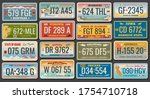 abstract vehicle registration... | Shutterstock .eps vector #1754710718