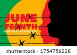 juneteenth freedom day. african ... | Shutterstock .eps vector #1754756228