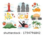 welcome to jeju island  south... | Shutterstock .eps vector #1754796842