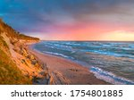 Baltic Sea In Colorful Sunset...