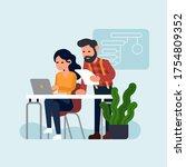 cool vector concept...   Shutterstock .eps vector #1754809352